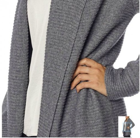 Celeste Ladies' Open Shawl Cashmere Wool Cardigan Costco 4