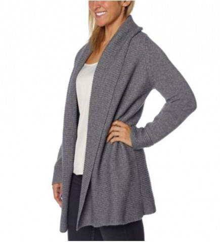 Celeste Ladies' Open Shawl Cashmere Wool Cardigan Costco 5