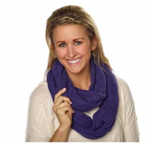 Celeste Ladies' Wool and Cashmere Infinity Scarf Costco 3