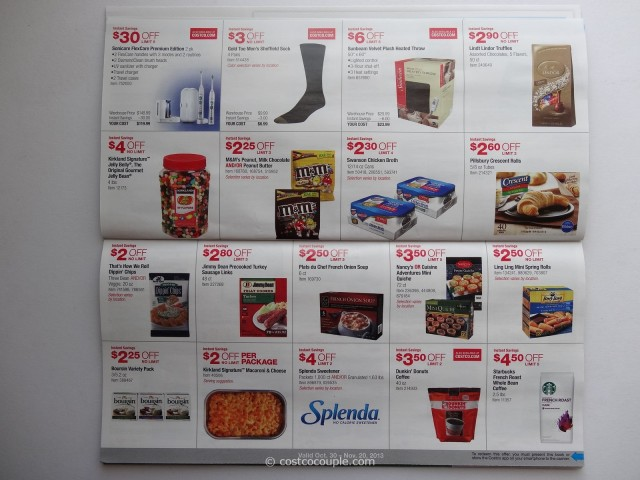 Here are the new monthly instant savings deals at Costco! The coupon book is valid October 31 – November Check.