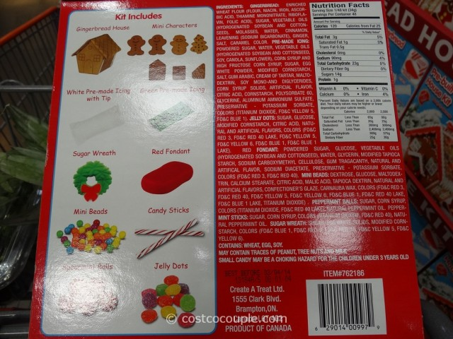 Create A Treat Pre-Built Gingerbread House Kit Costco 3