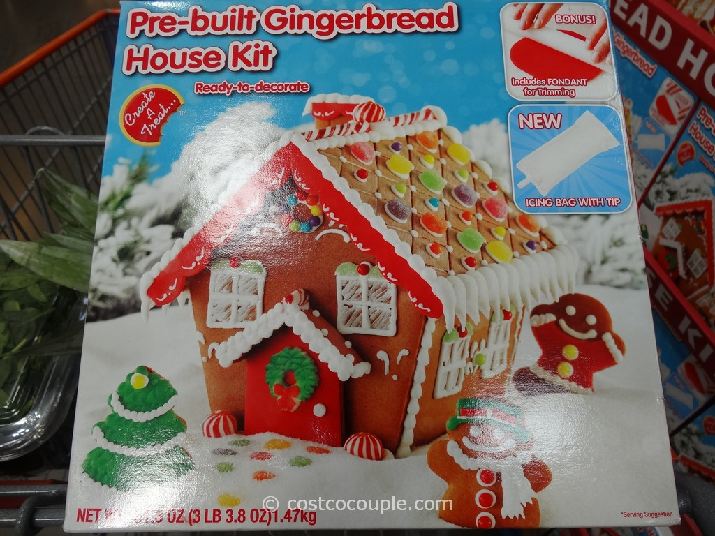 Premade Gingerbread Houses Create A Treat Pre Built Gingerbread House Kit