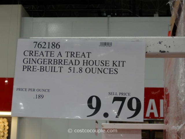 Create A Treat Pre-Built Gingerbread House Kit Costco 5