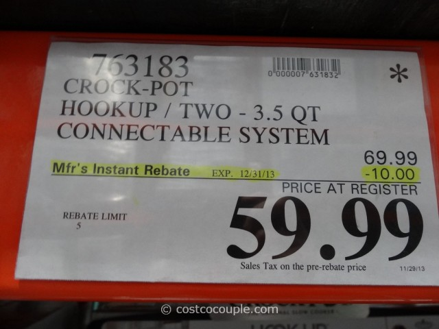 Crock-Pot Hook Up Set Costco