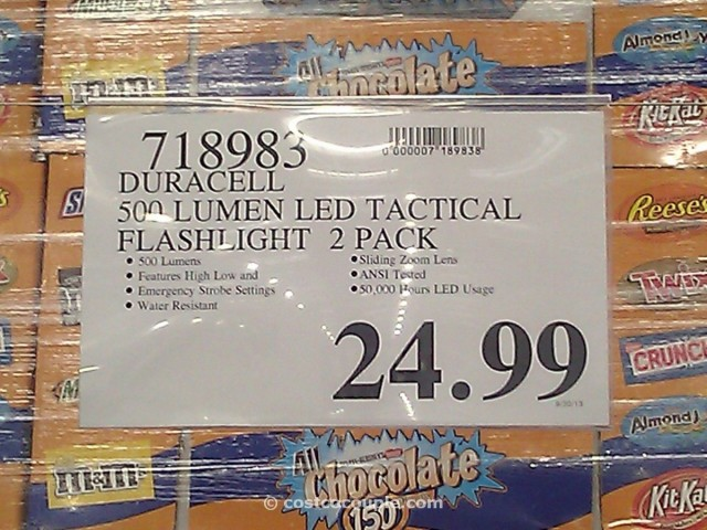 Duracell LED Tactical Flashlight 2 Pack Costco 1