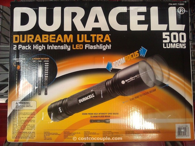 Duracell LED Tactical Flashlight 2 Pack Costco 3