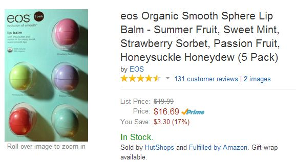 EOS Organic Lip Balm Amazon