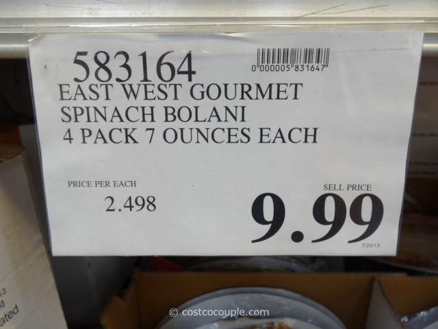 East West Gourmet Bolani Costco 2