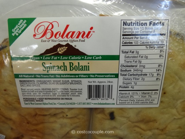 East West Spinach Bolani Costco 2