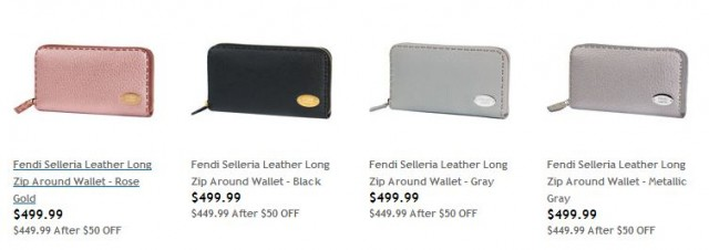 Fendi Selleria Leather Wallets Costco