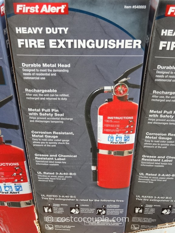 First Alert Heavy Duty Fire Extinguisher Costco 3
