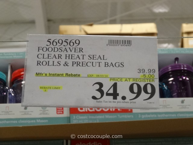 FoodSaver Clear Heat Seal Rolls Costco