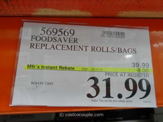 FoodSaver Replacement Rolls and Bags Costco 3