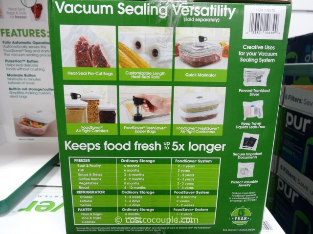 Foodsaver 4800 Vacuum Sealing System Costco 5