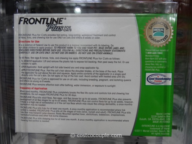 Frontline Plus For Cats Costco 2