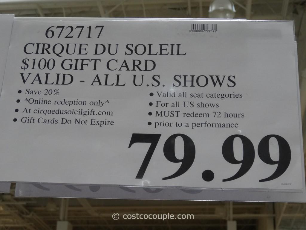 Cirque du soleil discount coupons
