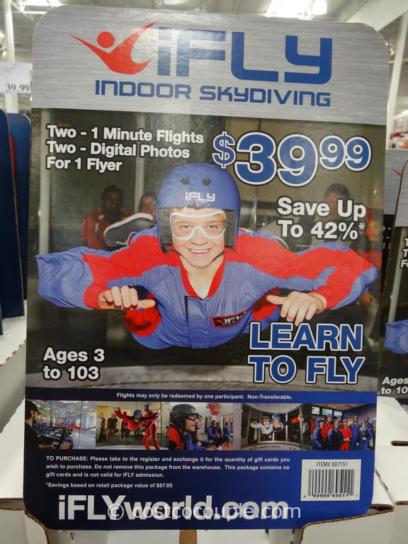 iFly Discount Gift Cards