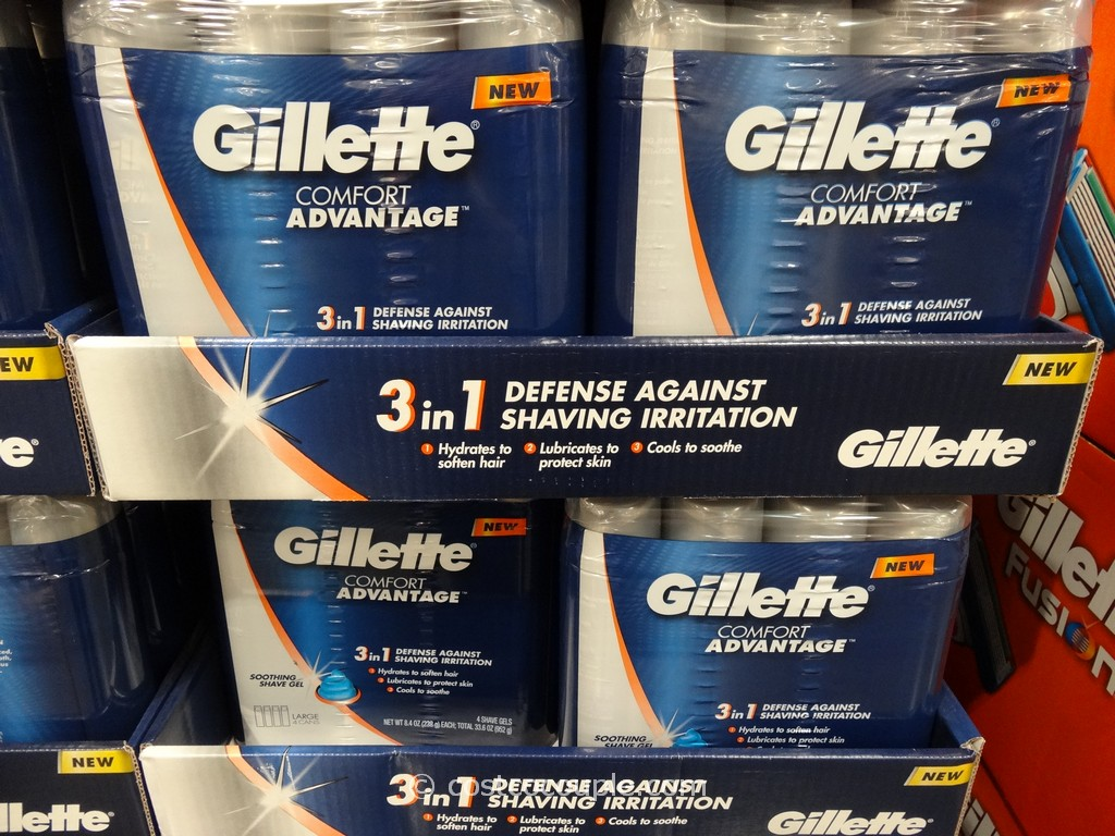 Gillette Comfort Advantage Gel Costco 1