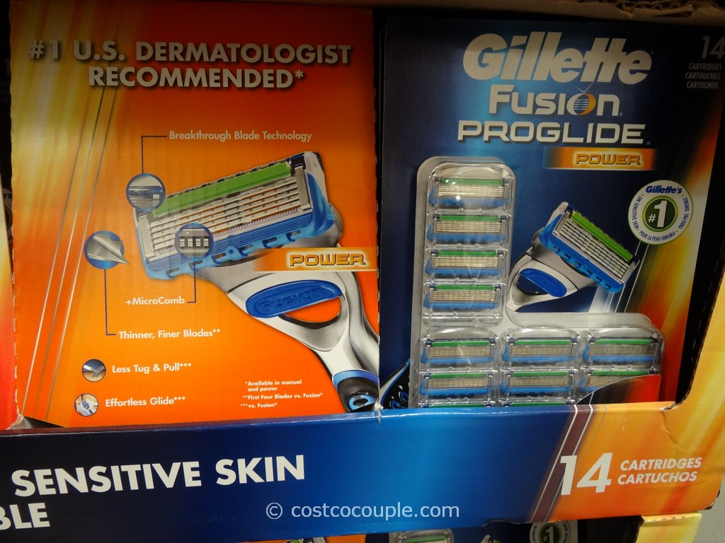 Gillette Fusion Proglide Power Cartridges Costco 1