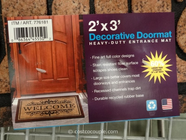 Heavy Duty Decorative Doormat Costco 3