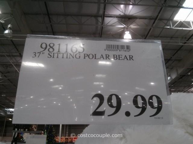 Kelly Toy 37-Inch Sitting Polar Bear Costco 3