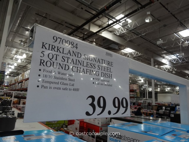 Kirkland Signature 5Qt Stainless Steel Round Chafing Dish Costco 1