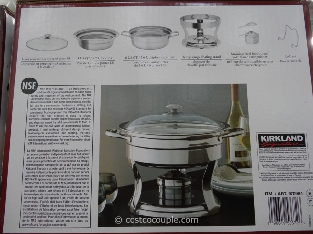 Kirkland Signature 5Qt Stainless Steel Round Chafing Dish Costco 2