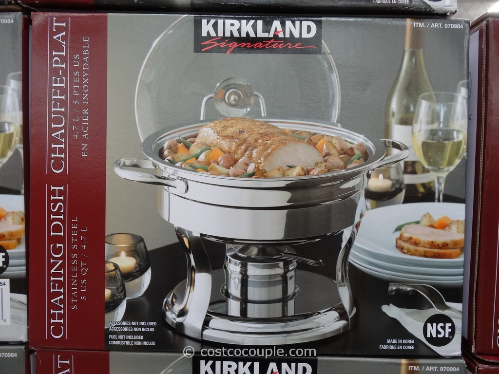 photo costco serving dishes images kirkland signature 5qt stainless steel round chafing dish costco 3