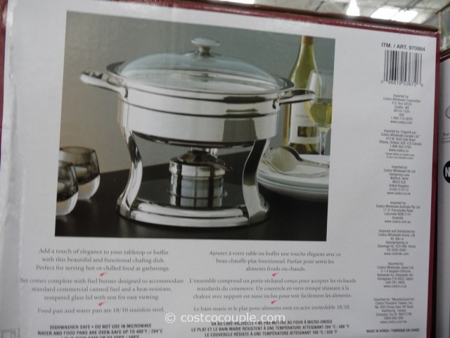 kirkland signature 5qt stainless steel round chafing dish