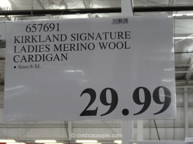 Kirkland Signature Ladies Merino Wool Cardigan Costco 1