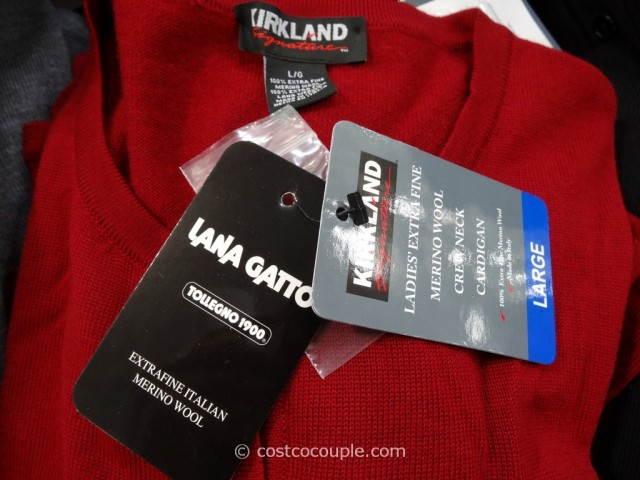 Kirkland Signature Ladies Merino Wool Cardigan Costco 3