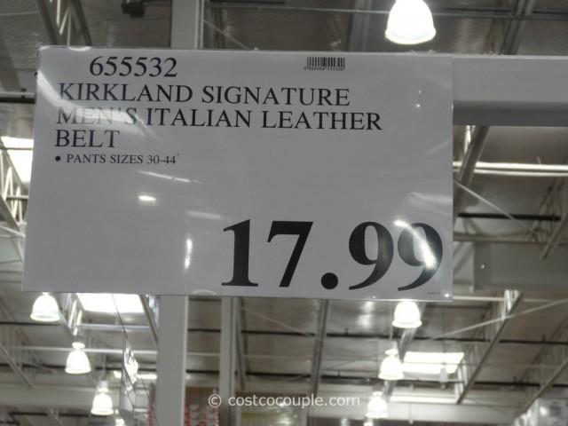 Kirkland Signature Mens Italian Leather Belt Costco 1