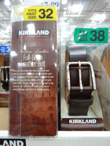 Kirkland Signature Mens Italian Leather Belt Costco 3