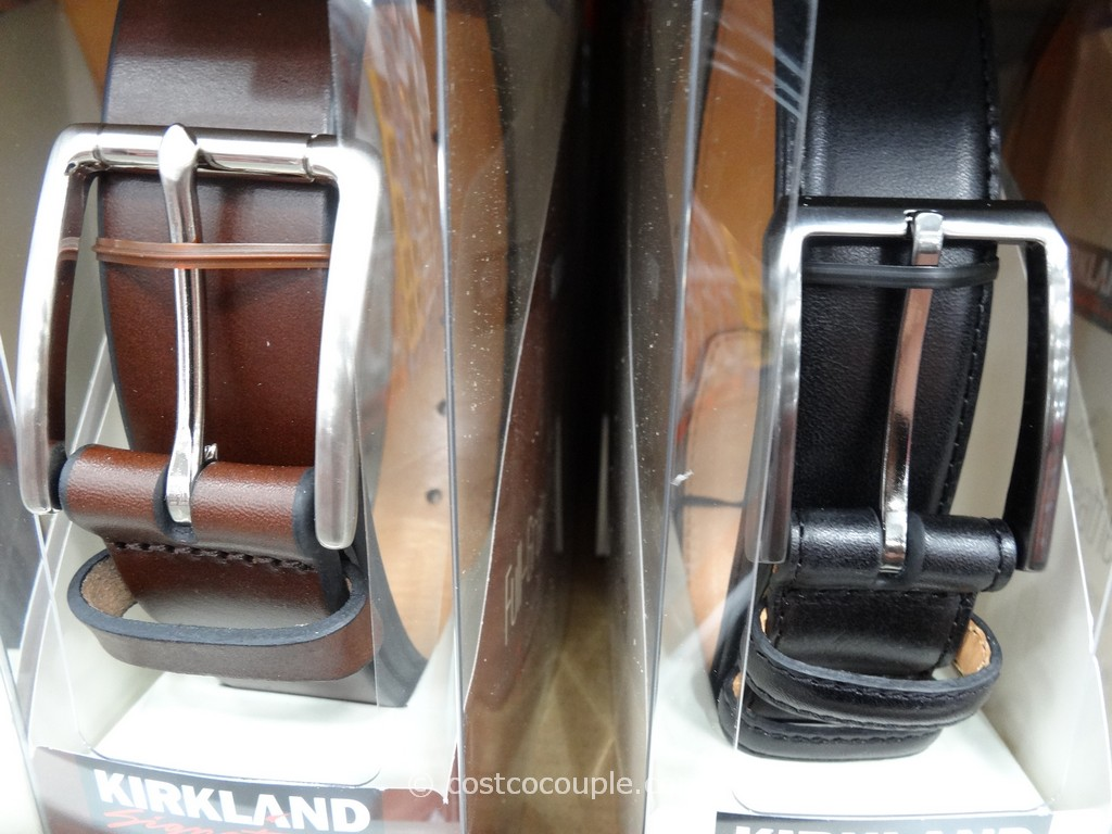 Kirkland Signature Mens Italian Leather Belt Costco 5