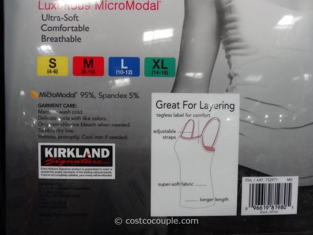 Kirkland Signature Modal Camisoles Costco 3