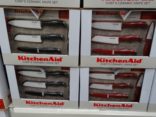 KitchenAid 4-Piece Ceramic Knife Set With Sheaths Costco 4