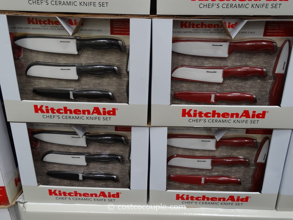 Kitchenaid Cutlery kitchenaid 4-piece ceramic knife set with sheaths