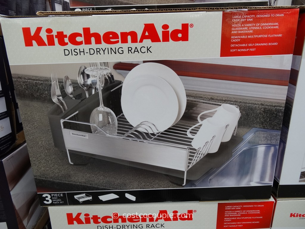 Ordinaire KitchenAid Stainless Steel Dish Drying Rack Costco 1 ...