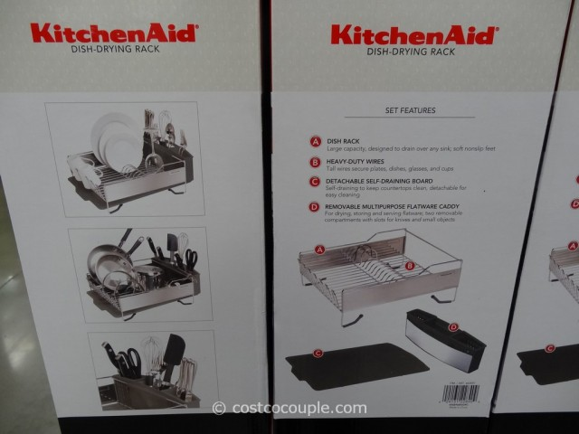 ... KitchenAid Stainless Steel Dish Drying Rack Costco 2 ...