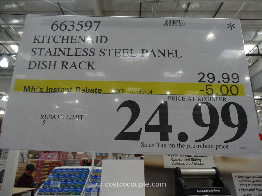 KitchenAid Stainless Steel Dish Drying Rack Costco
