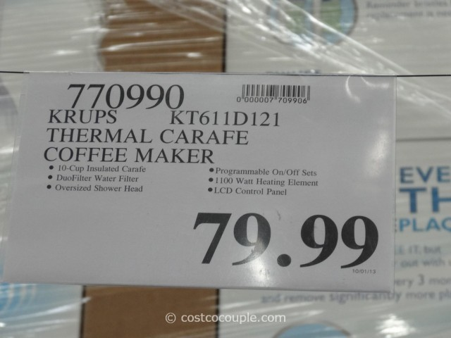 Krups Thermal Carafe Coffee Maker Costco 5