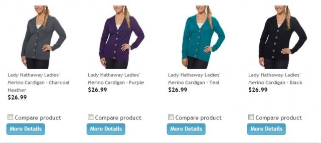 Lady Hathaway Ladies' Merino Cardigan Costco 1