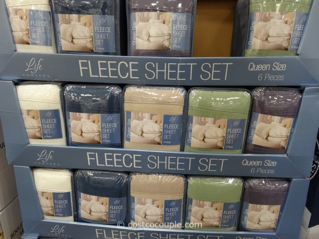 Life Comfort Queen Fleece Sheet Set Costco 2
