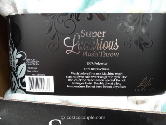Life Comfort Super Luxurious Plush Throw Costco 4