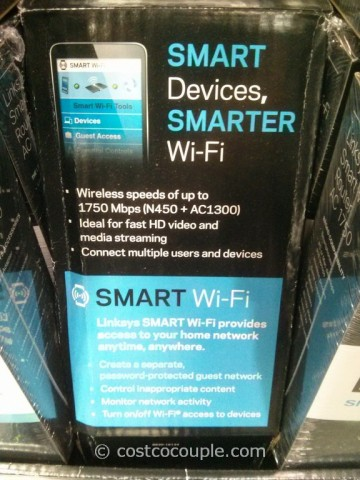 Linksys AC1750 Wireless Dual Band Router Costco 8