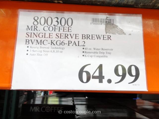 Mr Coffee Single Serve Brewer Costco 5