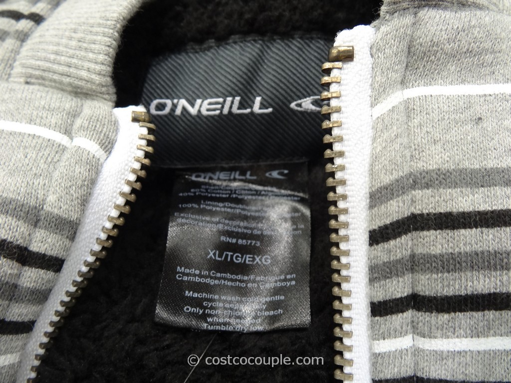 O Neill Men S Full Zip Sherpa Lined Hoodie