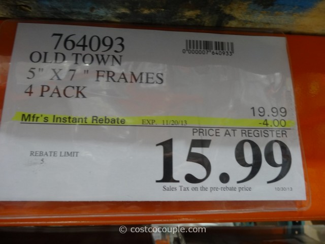 Old Town 5 x 7 Solid Wood Photo Frames Costco 4