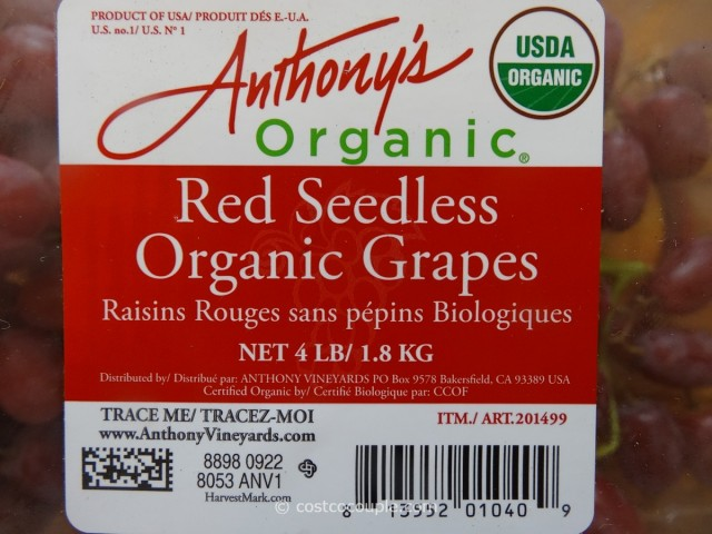 Organic Red Seedless Grapes Costco 5
