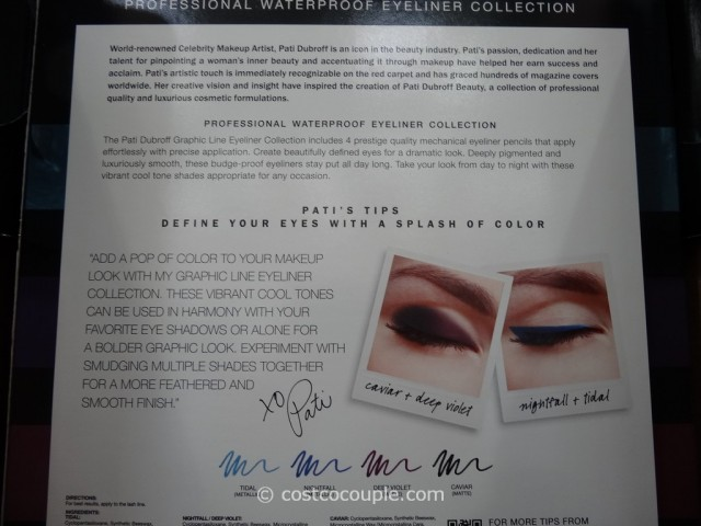 Pati Dubroff Graphic Line Waterproof Eyeliner Collection Costco 3
